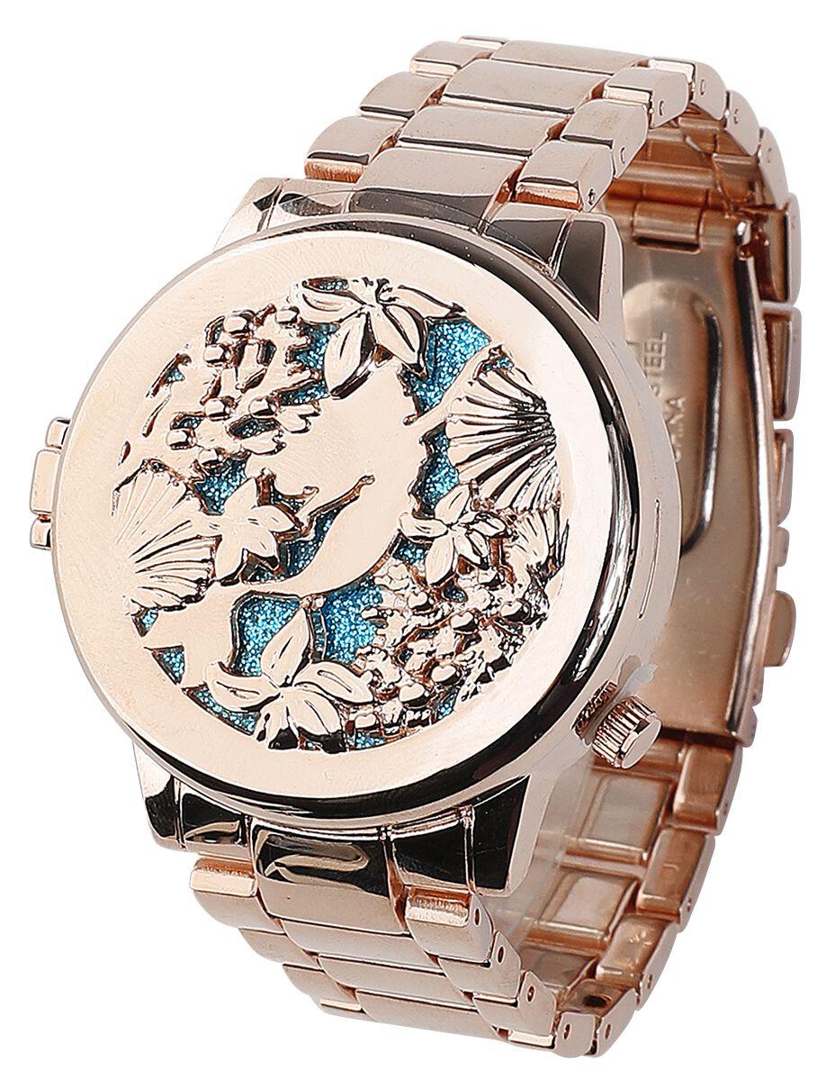 Uhren für Frauen - Arielle die Meerjungfrau Swimming Mermaid Armbanduhr goldfarben  - Onlineshop EMP