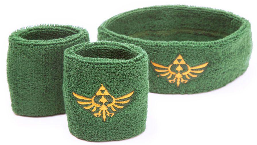 Image of   The Legend Of Zelda Svedbånd-sæt Armbånd grøn-guld