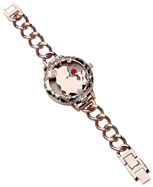 Uhren für Frauen - Die Schöne und das Biest Belle and Friends Armbanduhr goldfarben  - Onlineshop EMP