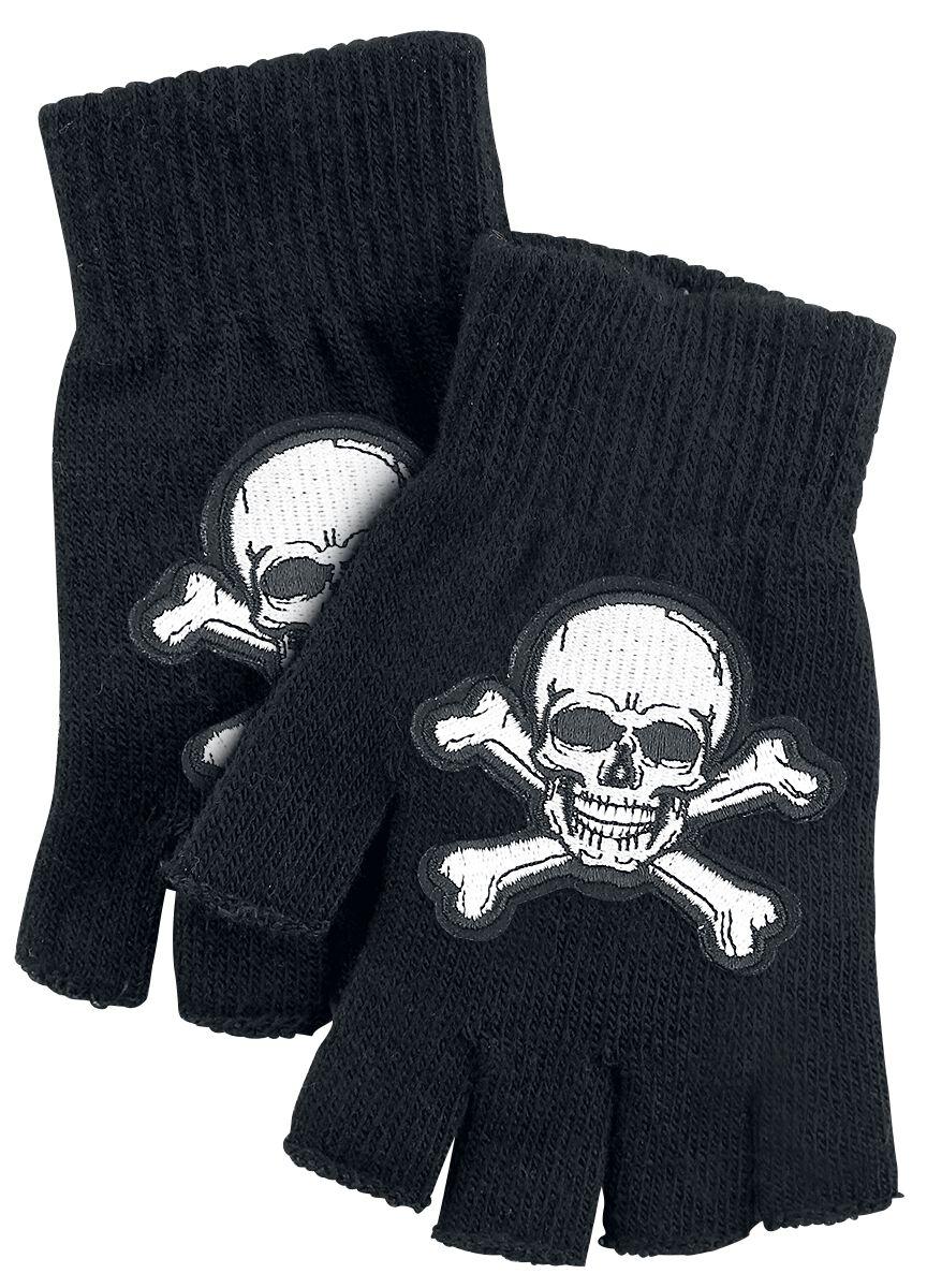 Basics - Szaliki i Rękawiczki - Rękawiczki bez palców Skull Rękawiczki bez palców czarny - 356908