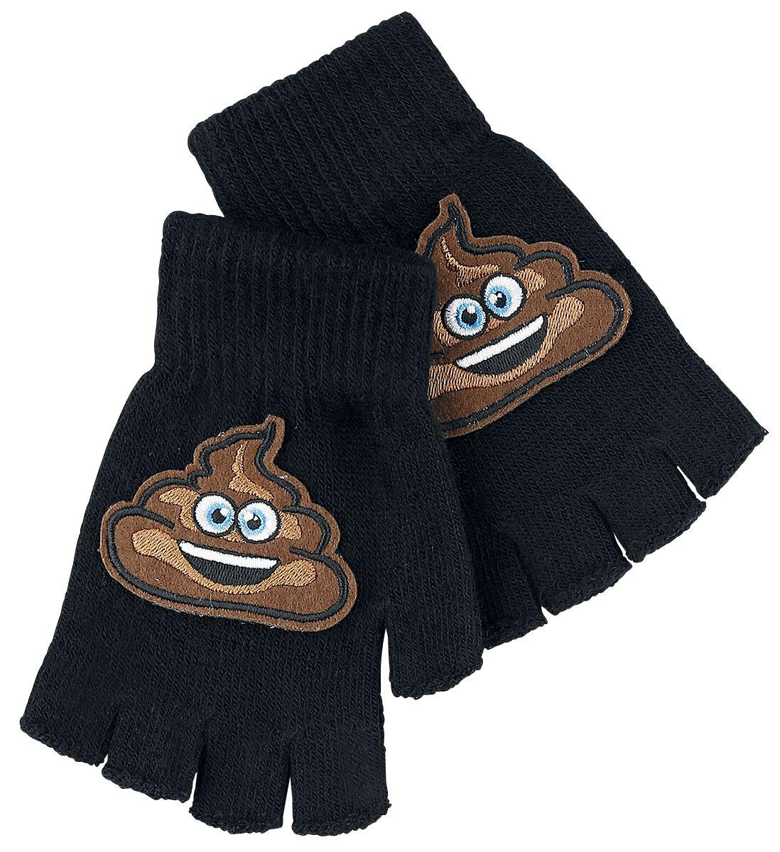 Fun & Trends - Szaliki i Rękawiczki - Rękawiczki bez palców Emoji Pooh Rękawiczki bez palców czarny - 356911