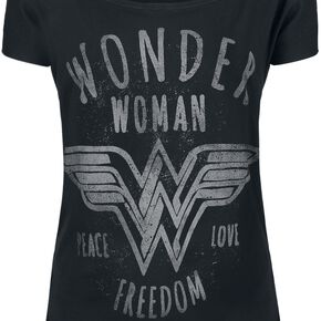 Wonder Woman Freedom T-shirt Femme noir