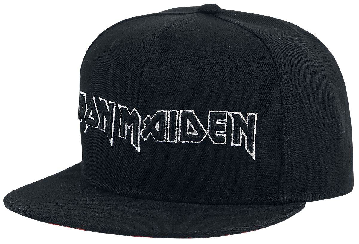 Image of   Iron Maiden Logo Snapback Cap sort