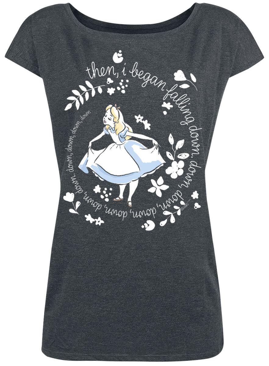 Image of   Alice i Eventyrland Then I Began Girlie trøje mørk grålig