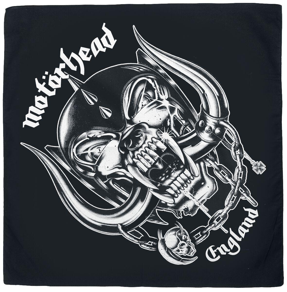Image of   Motörhead England Bandana sort-hvid