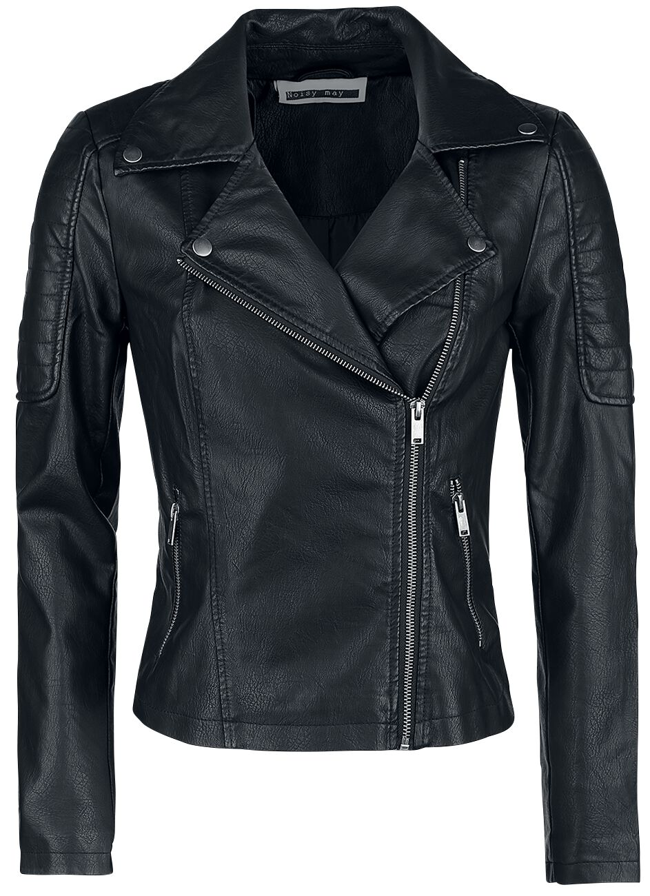 super popular cf37b 18b04 Image of Noisy May Rebel PU Jacket Girlie jakke sort