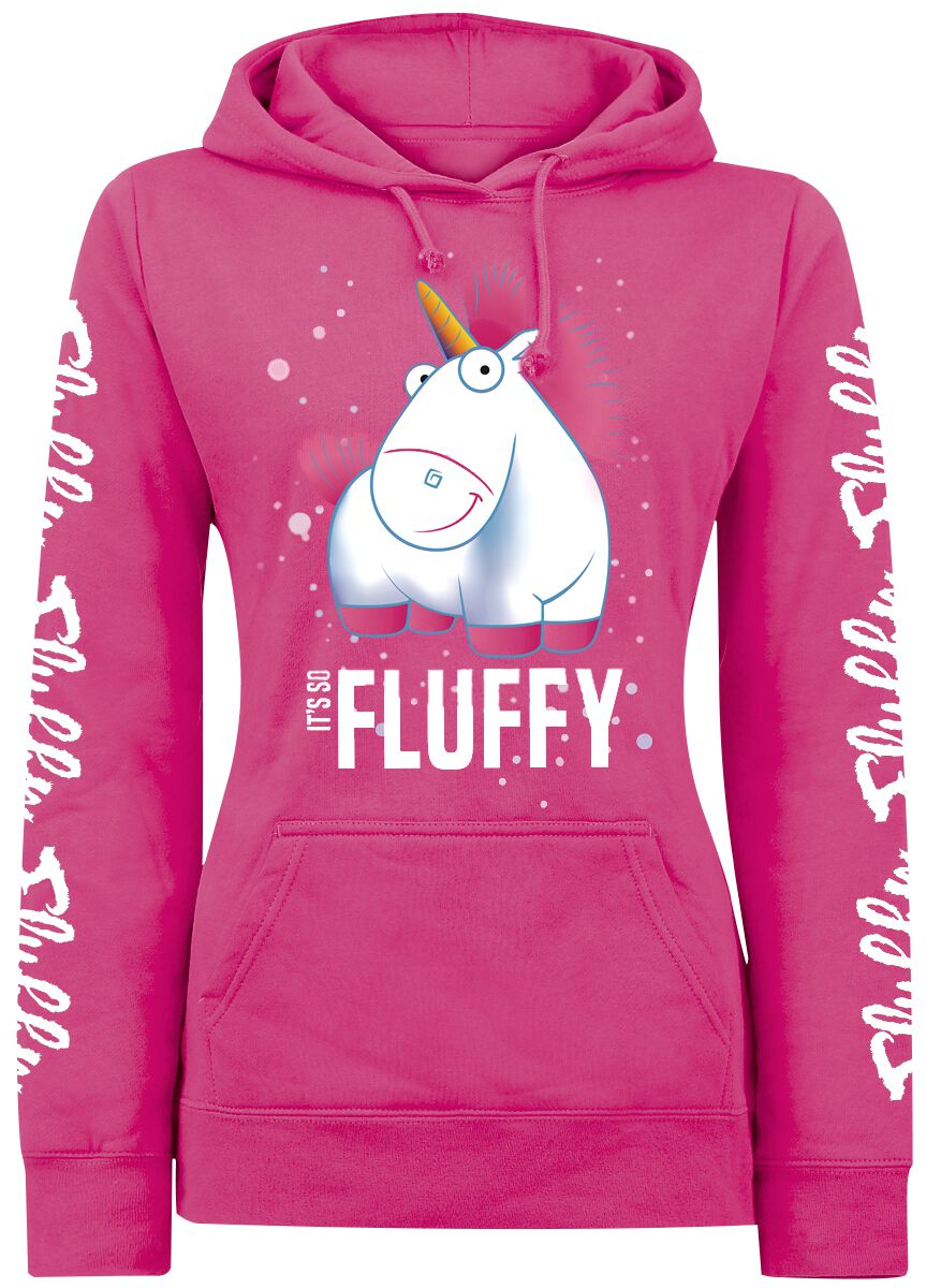 Image of   Minions Einhorn - It's So Fluffy Bubbles Girlie hættetrøje pink
