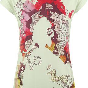 La Belle Et La Bête Inked T-shirt Femme multicolore