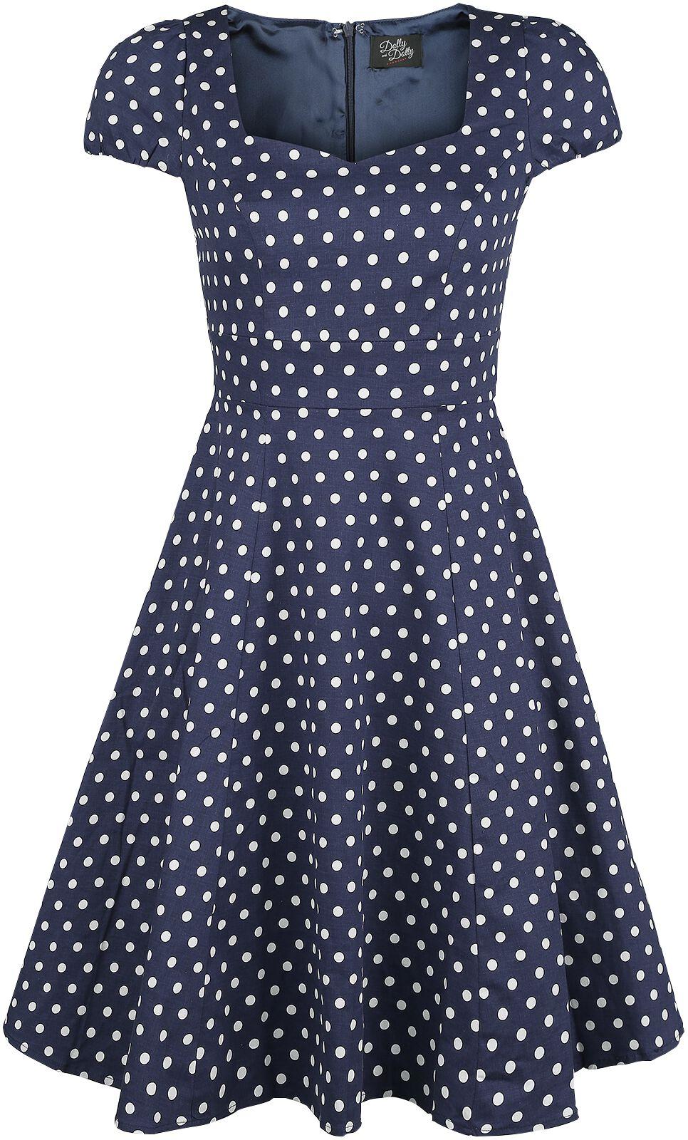 Marki - Sukienki - Sukienka Dolly and Dotty Claudia Sukienka niebieski/biały - 357109