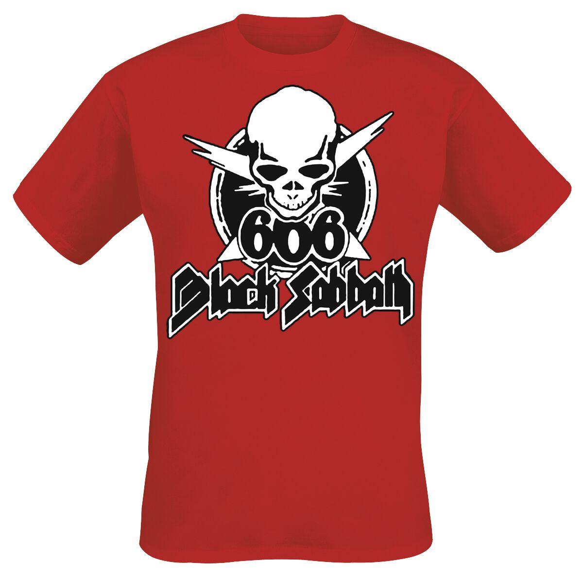 Zespoły - Koszulki - T-Shirt Black Sabbath 666 Skull T-Shirt czerwony - 357119