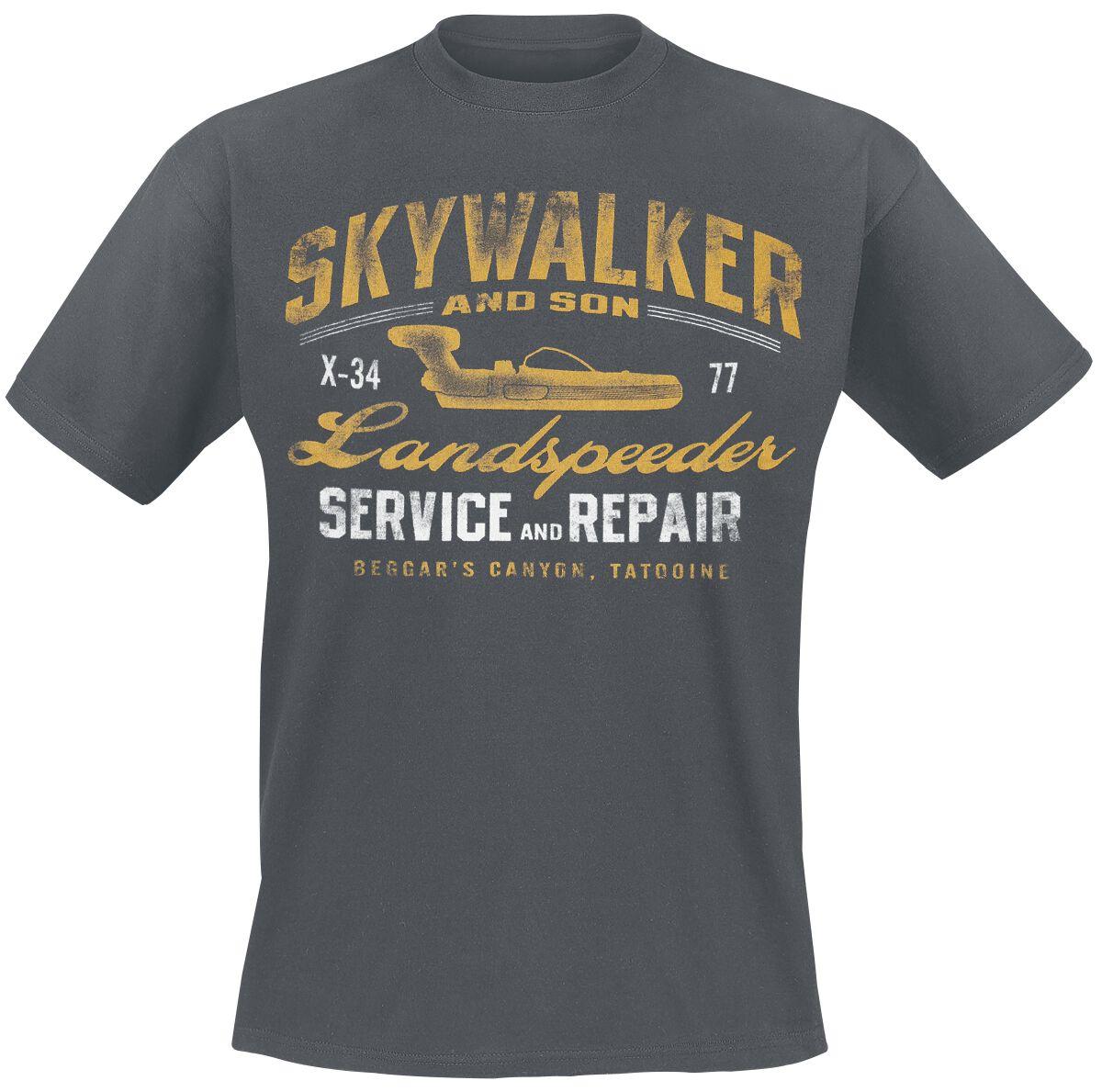 Star Wars Landspeeder Repair T-Shirt grau