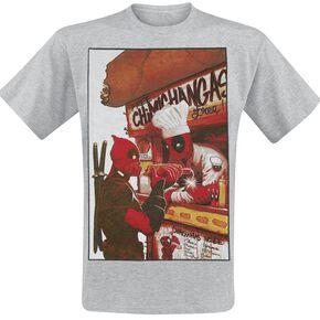Deadpool Free Chimichangas T-shirt gris chiné