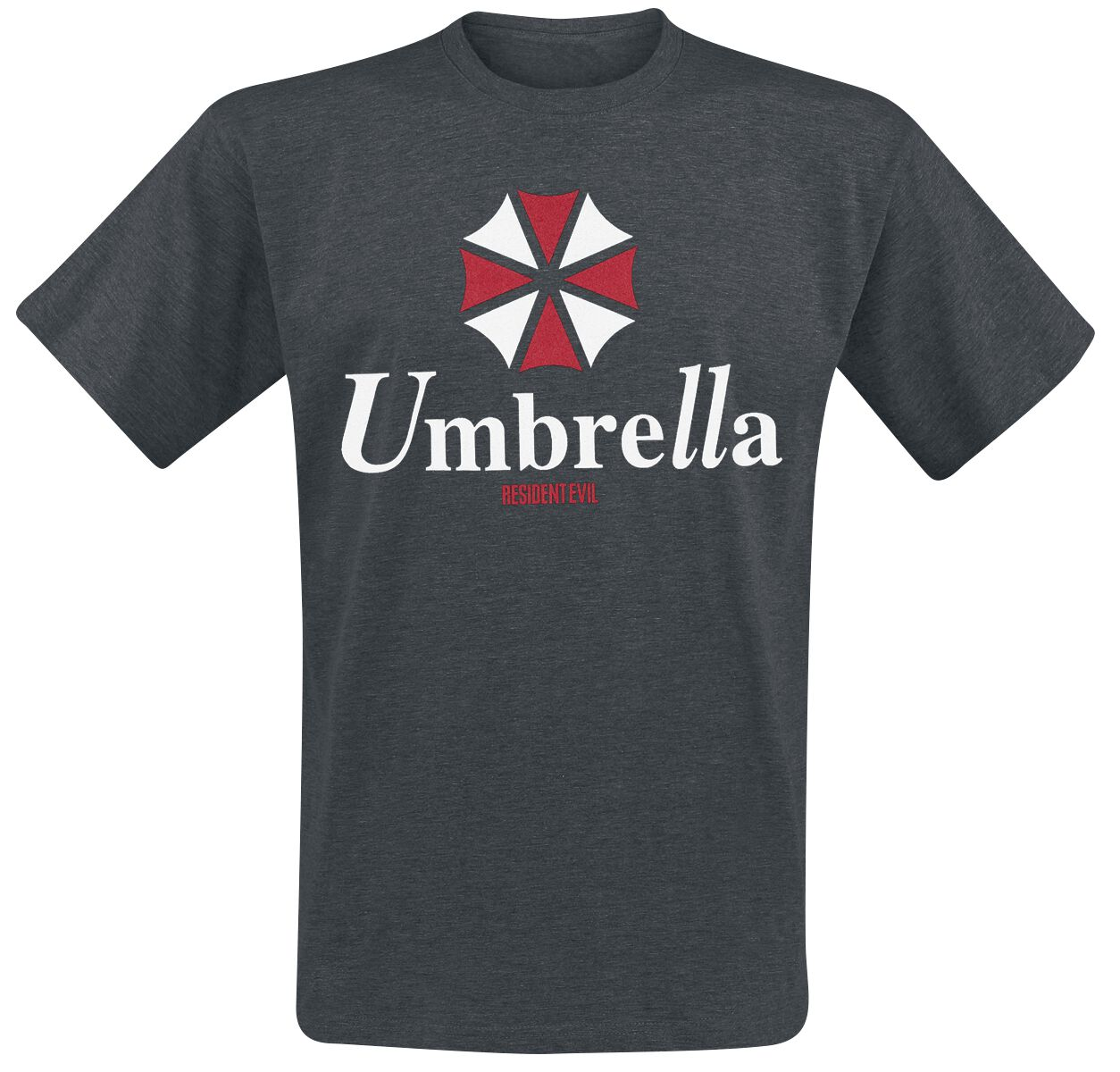 Merch dla Fanów - Koszulki - T-Shirt Resident Evil Umbrella Corporation - Logo T-Shirt odcienie ciemnoszarego - 357146