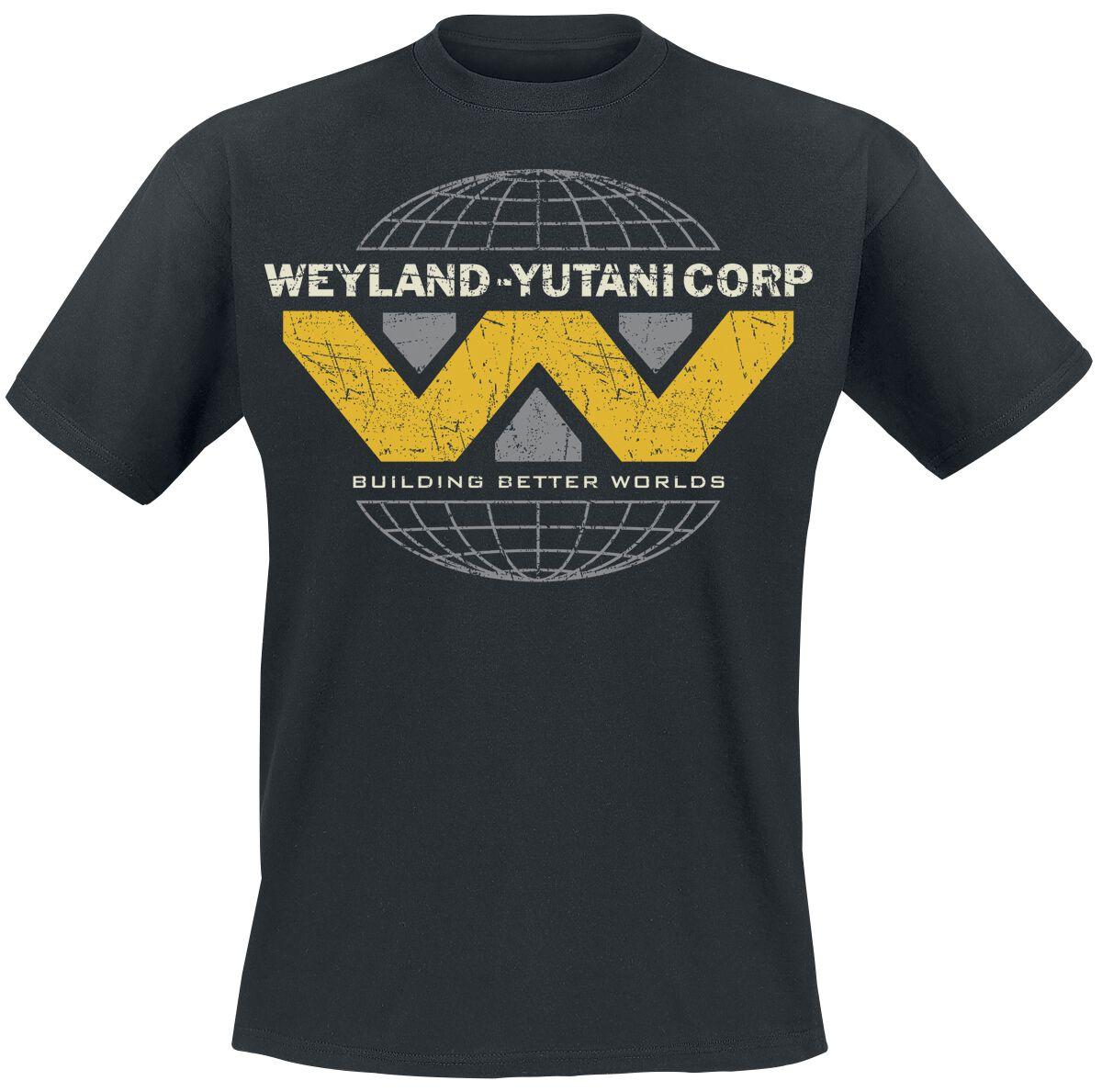 Merch dla Fanów - Koszulki - T-Shirt Alien Weyland Yutani Logo T-Shirt czarny - 357150