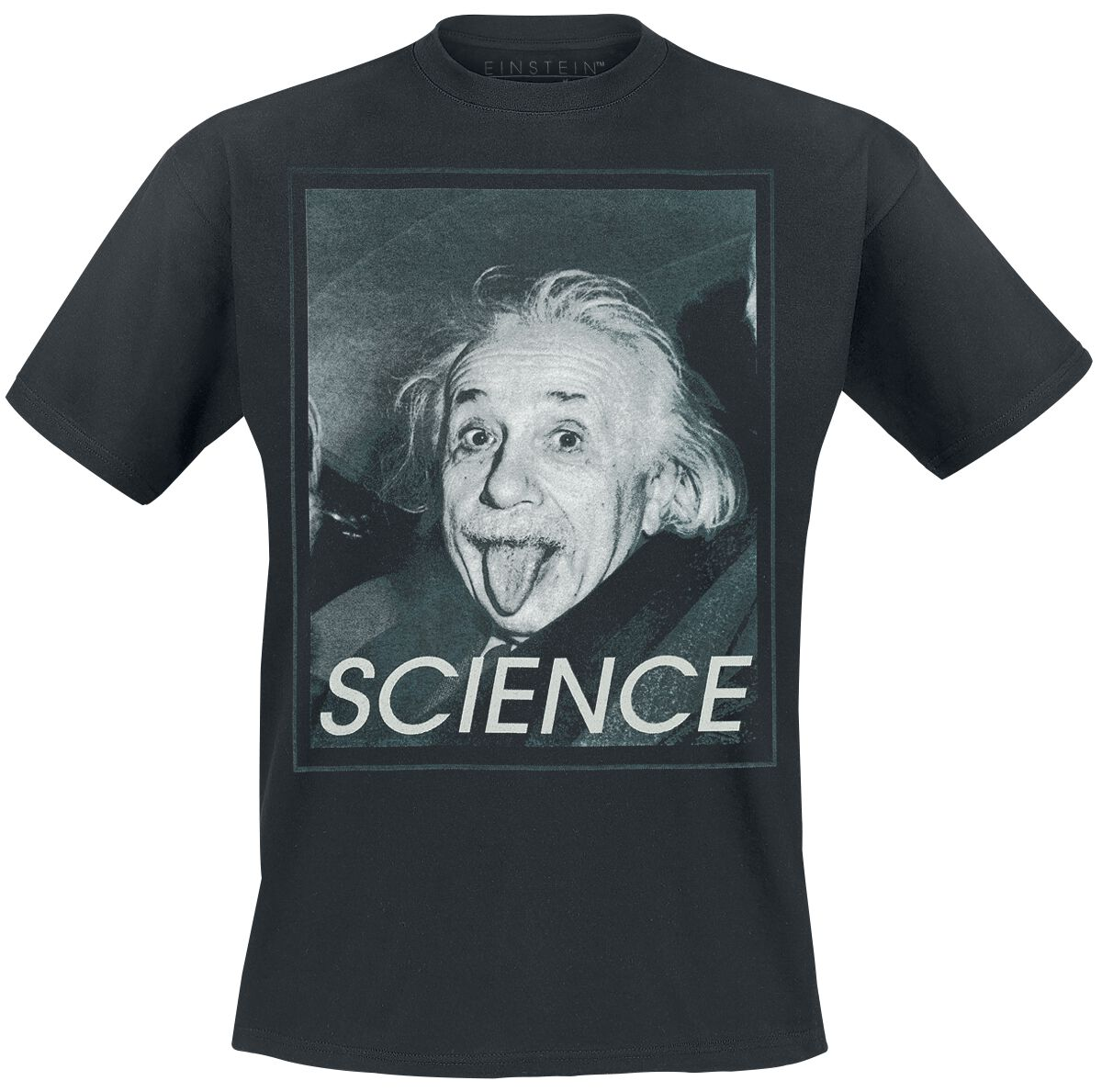 Merch dla Fanów - Koszulki - T-Shirt Albert Einstein Science T-Shirt czarny - 357190