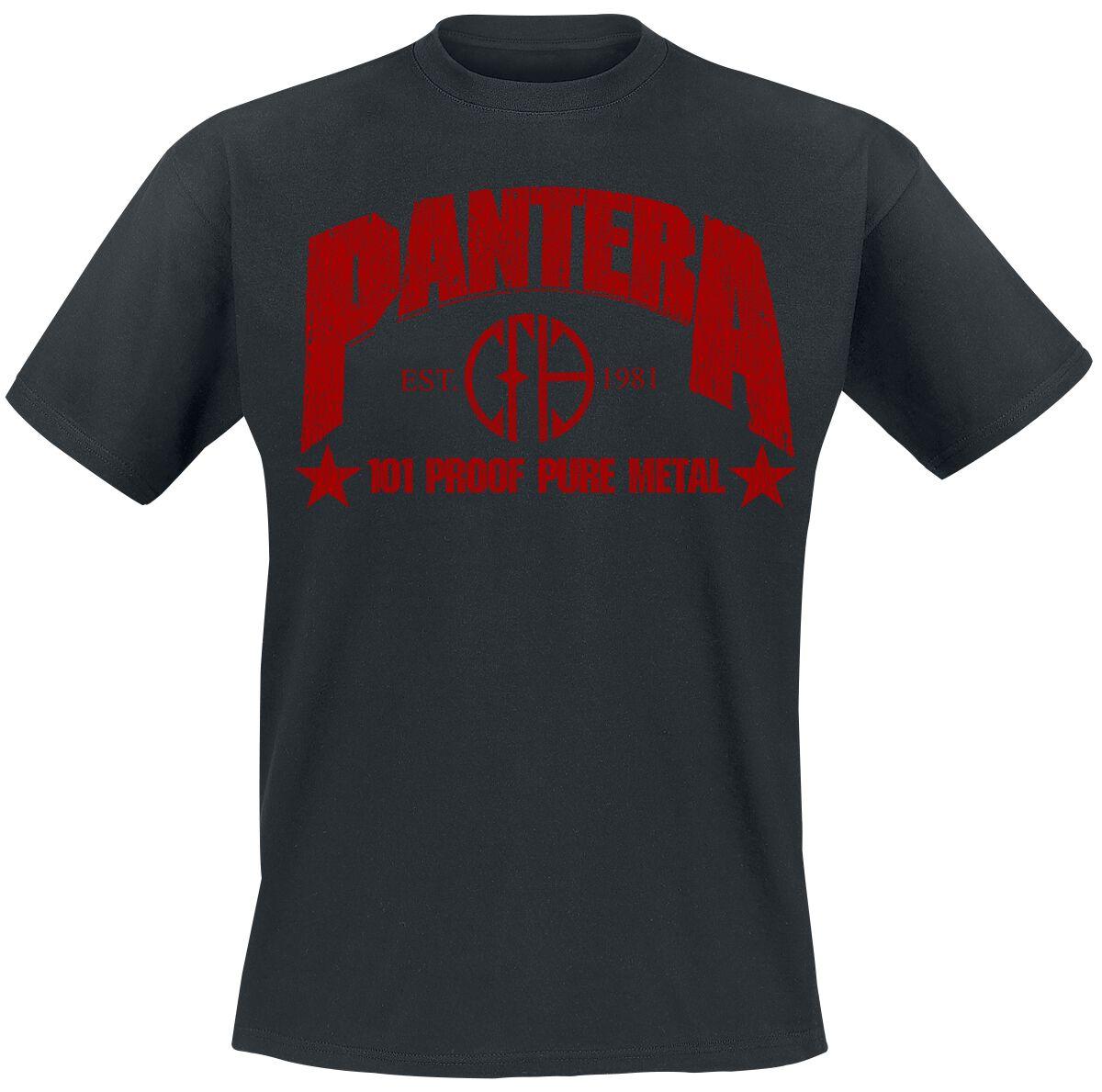 Zespoły - Koszulki - T-Shirt Pantera 101 Proof Pure Metal T-Shirt czarny - 357201