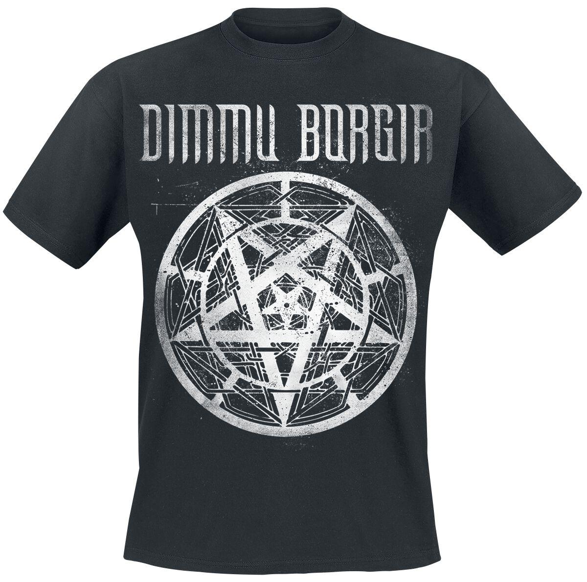Zespoły - Koszulki - T-Shirt Dimmu Borgir Pentagram Logo T-Shirt czarny - 357207