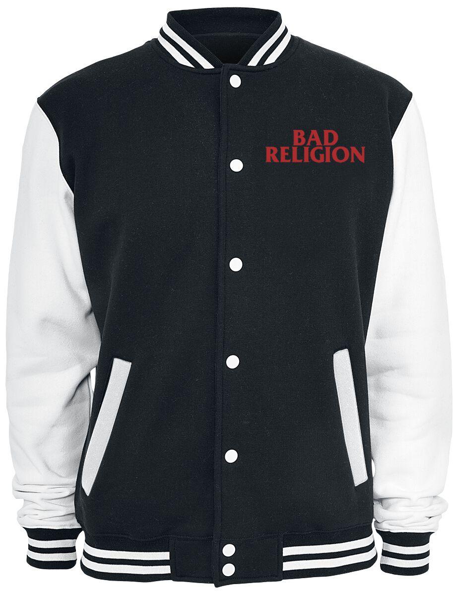 Zespoły - Kurtki - College Jacket Bad Religion Classic Buster College Jacket czarny/biały - 357228