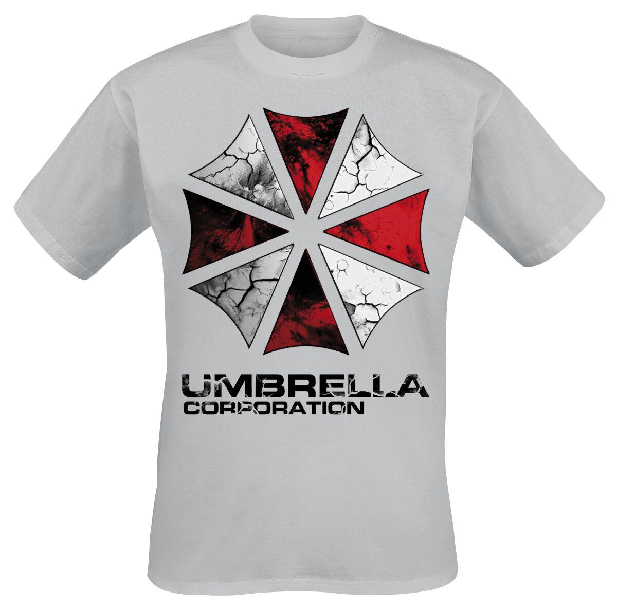 Merch dla Fanów - Koszulki - T-Shirt Resident Evil The Umbrella Corporation T-Shirt odcienie szarego - 357231