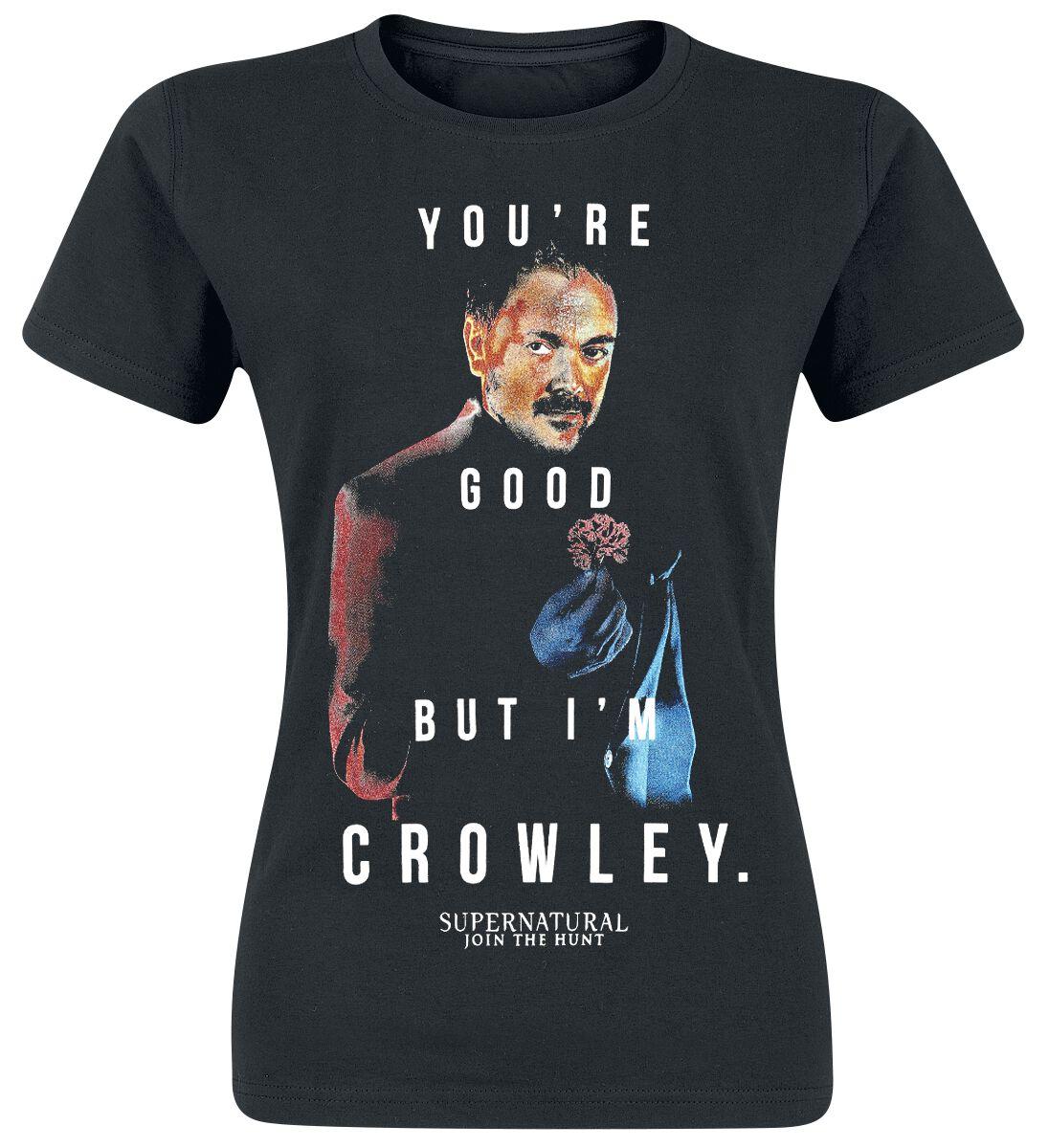 Image of   Supernatural Crowley Girlie trøje sort