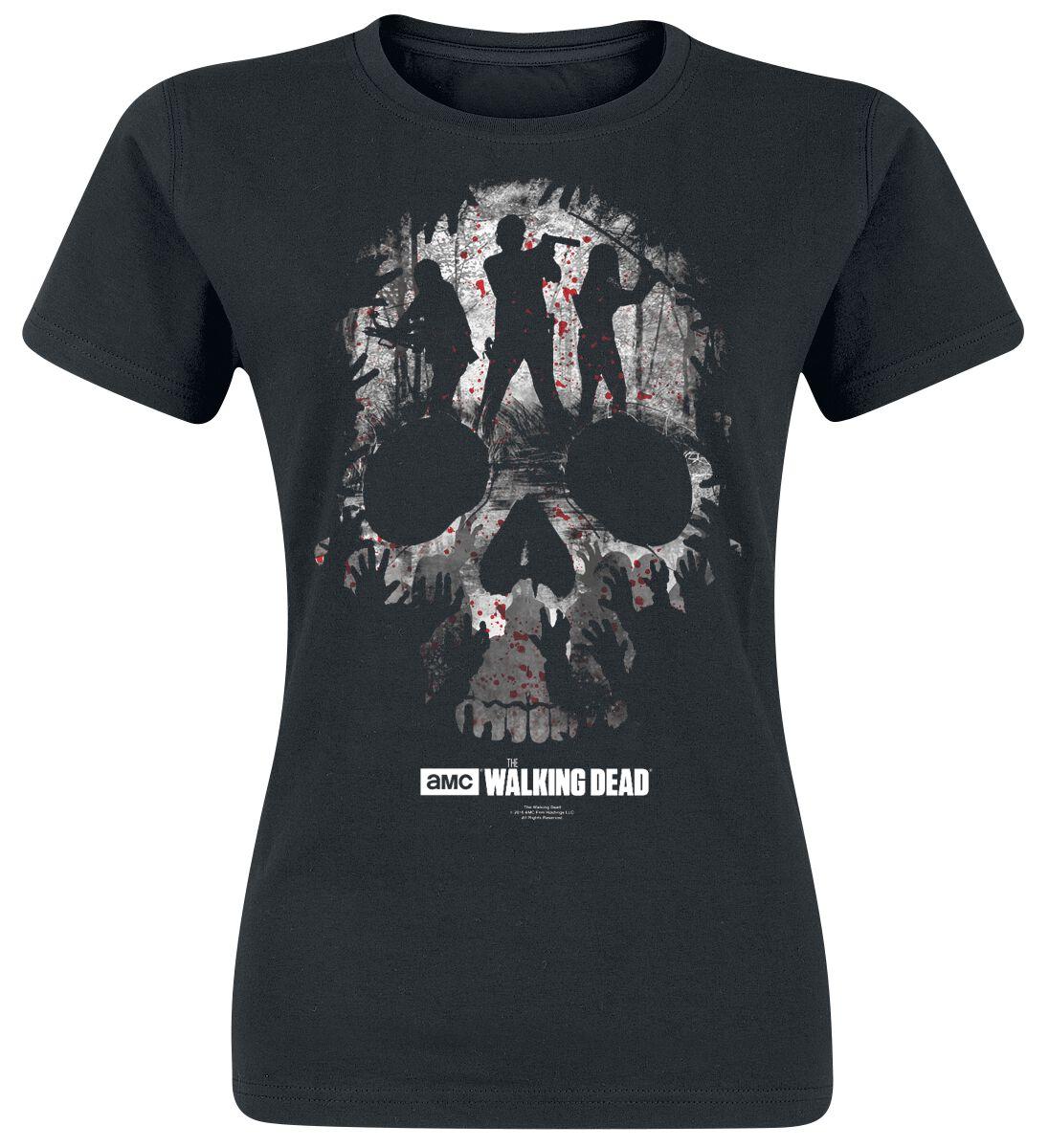Image of   The Walking Dead Skull Girlie trøje sort