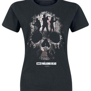 The Walking Dead Skull T-shirt Femme noir