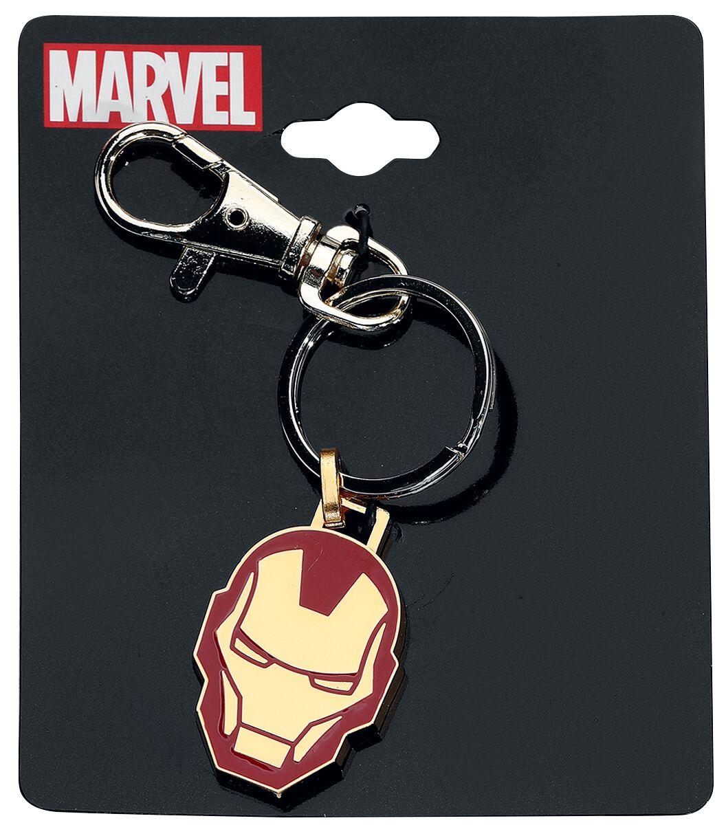 Merch dla Fanów - Breloczki do kluczy - Breloczek do kluczy Iron Man Head Breloczek do kluczy czerwony/złoty - 357447