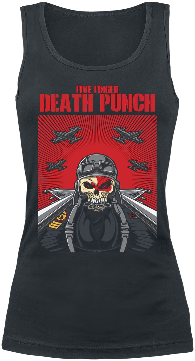 Image of   Five Finger Death Punch Skull Pilot Girlie top sort