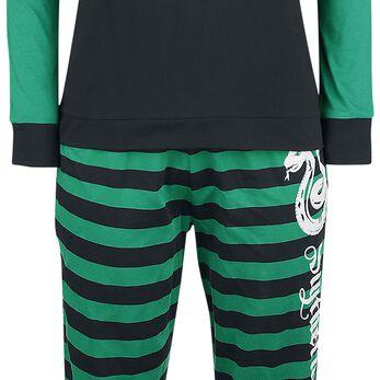 Harry Potter Rayures De Serpentard Pyjama noir/vert