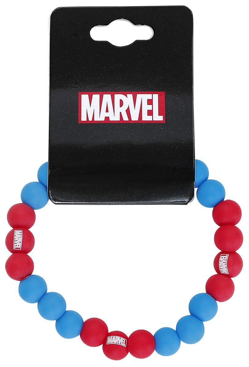 Image of   Spiderman Head Armbånd blå-rød