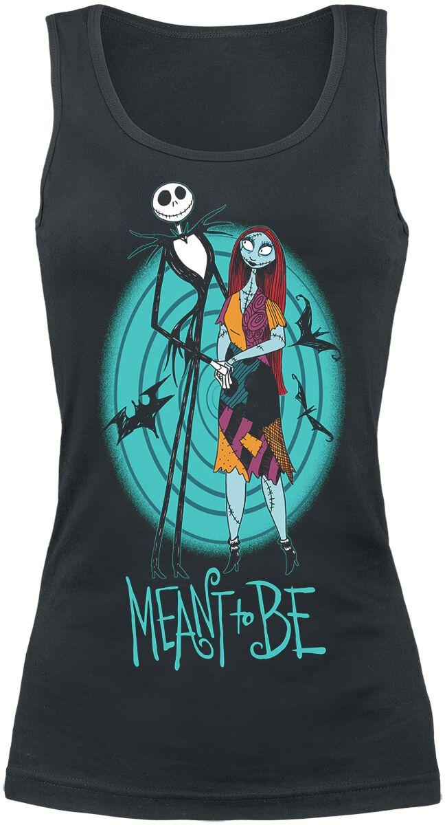 Image of   The Nightmare Before Christmas Meant To Be - Spiral Girlie top sort