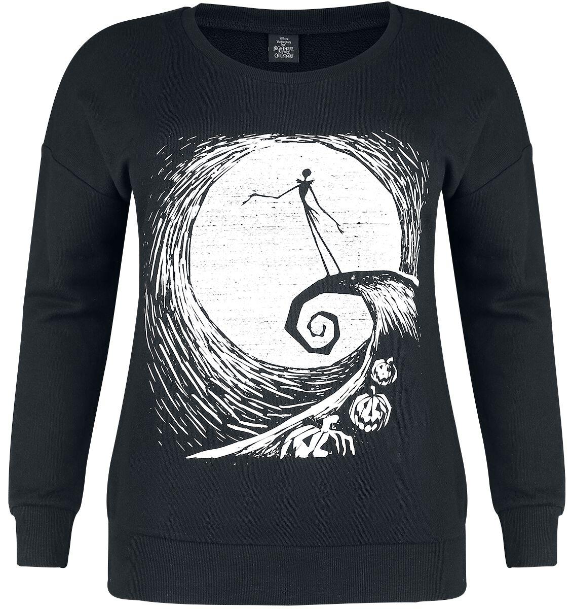 Image of   The Nightmare Before Christmas Pumpkin Hill Girlie sweatshirt sort