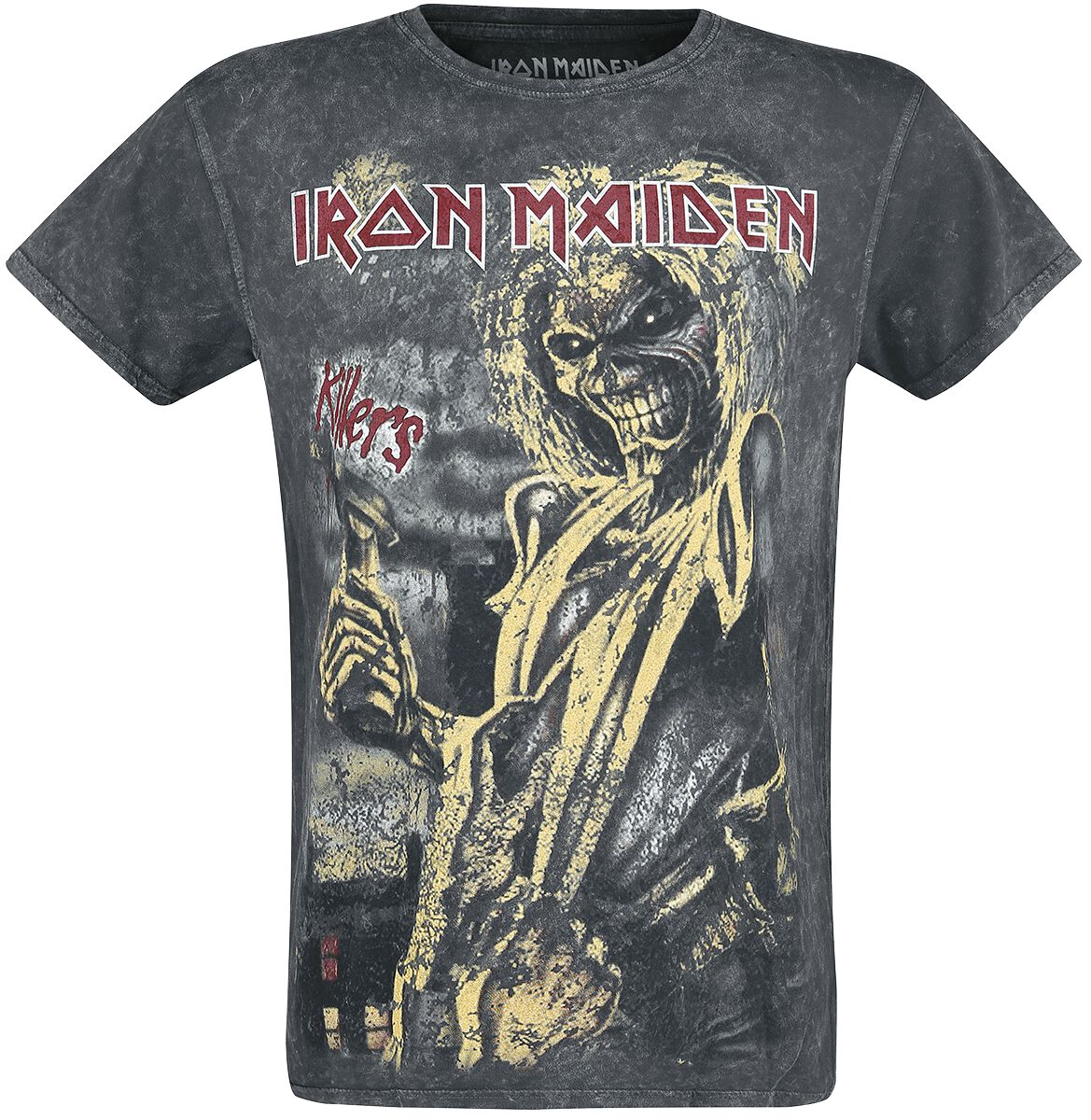 Image of   Iron Maiden Killers Vintage T-Shirt sort