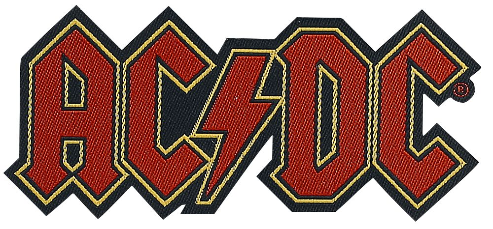 Image of   AC/DC Logo Cut-Out Patch multifarvet