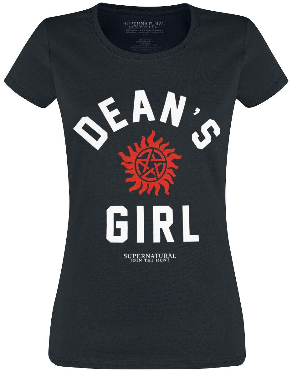 Image of   Supernatural Dean's Girl Girlie trøje sort