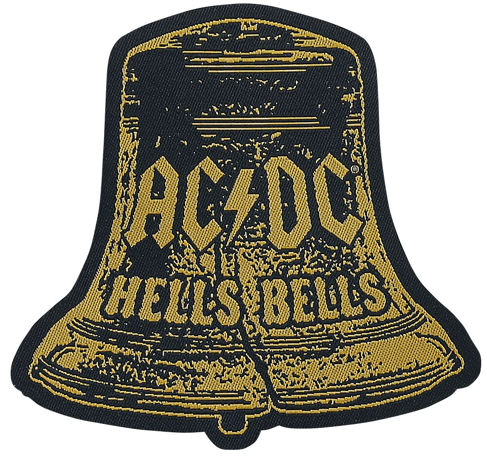 Image of   AC/DC Hells Bells Cut-Out Patch multifarvet