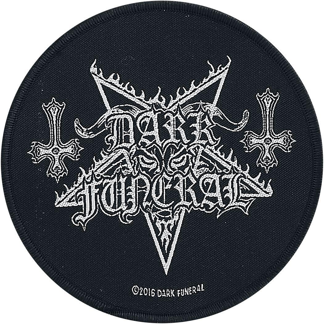 Dark Funeral Circular Logo Patch schwarz/weiß