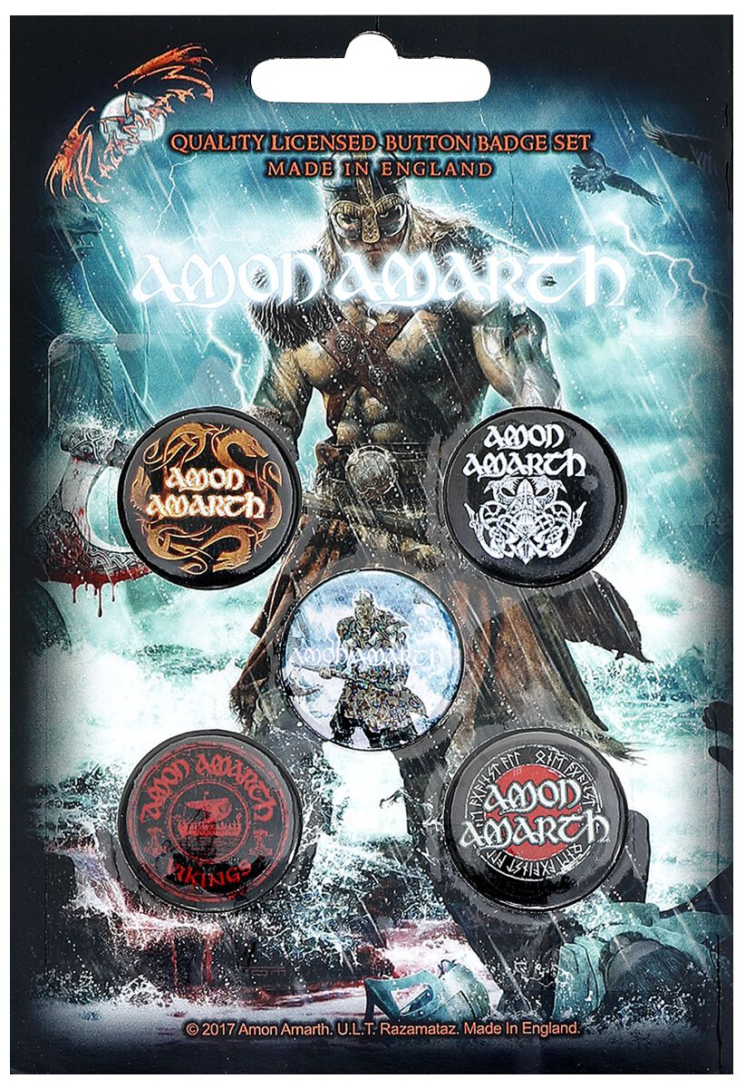Image of   Amon Amarth Jomsviking Badgepakke multifarvet