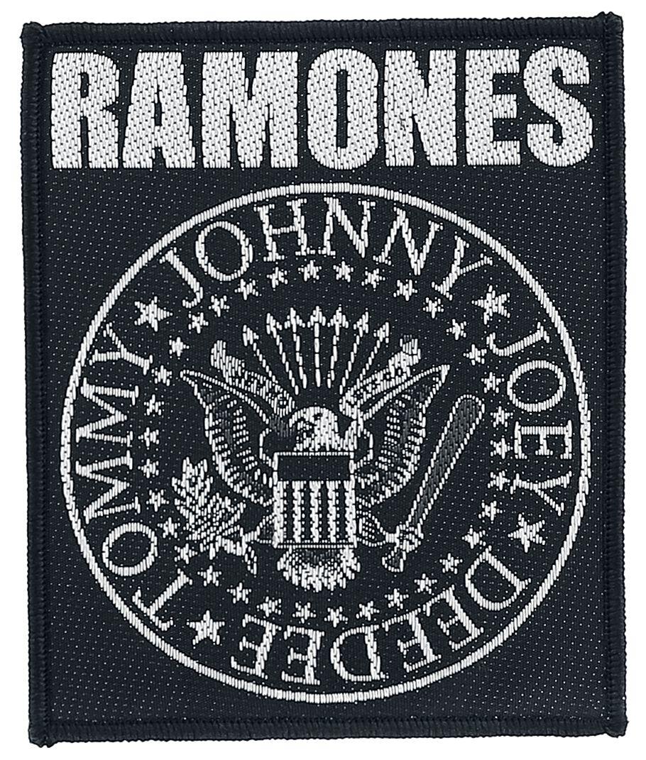 Ramones Classic Seal Patch schwarz/weiß
