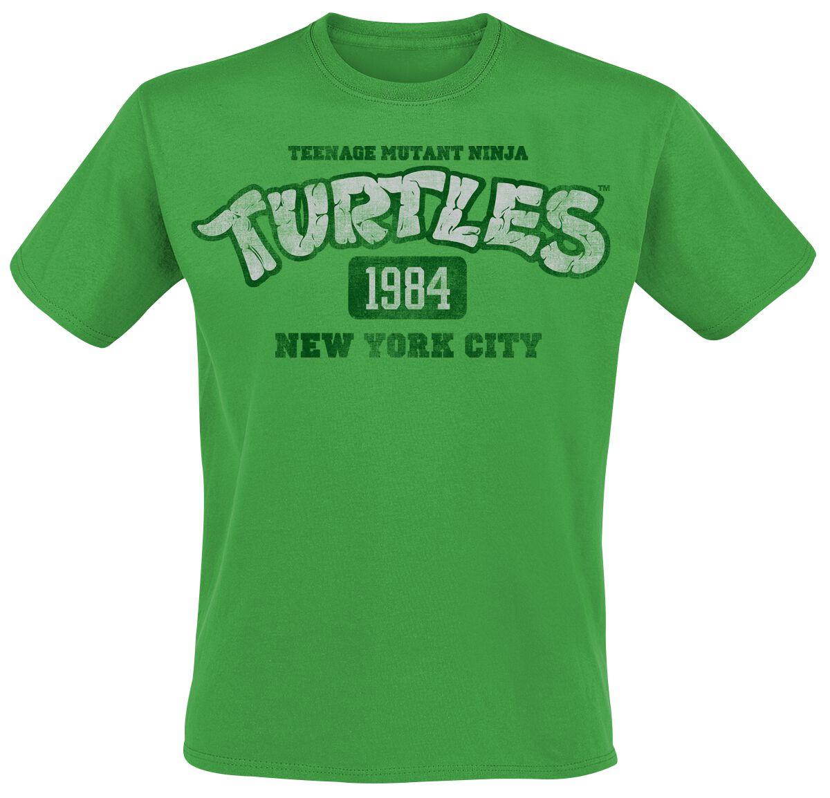 Merch dla Fanów - Koszulki - T-Shirt Teenage Mutant Ninja Turtles NY 1984 T-Shirt zielony - 357648