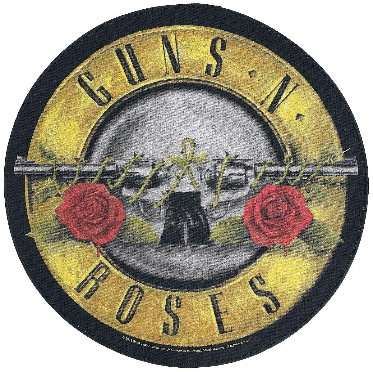 Image of   Guns N' Roses Bullet Logo Rygmærke multifarvet