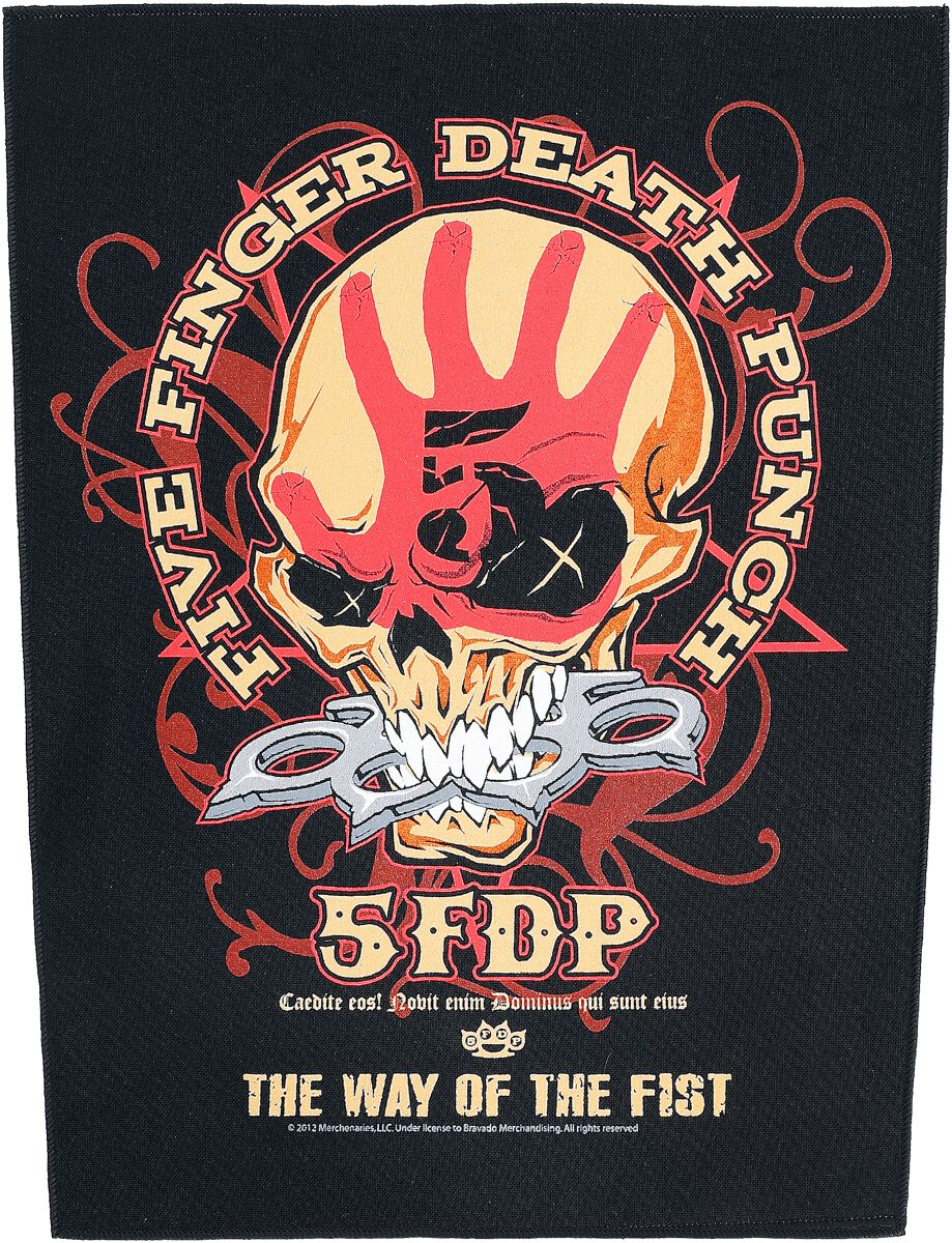 Image of   Five Finger Death Punch Way Of The Fist Rygmærke multifarvet