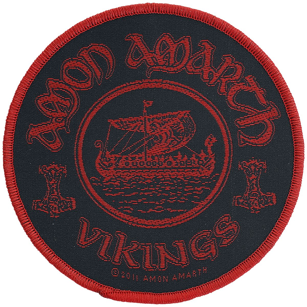 Image of   Amon Amarth Vikings Circular Patch multifarvet