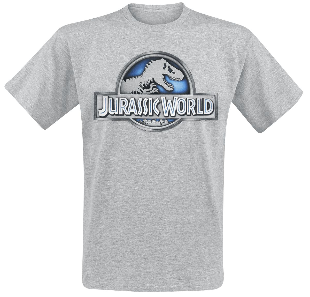 Image of   Jurassic World Logo T-Shirt blandet lys grå