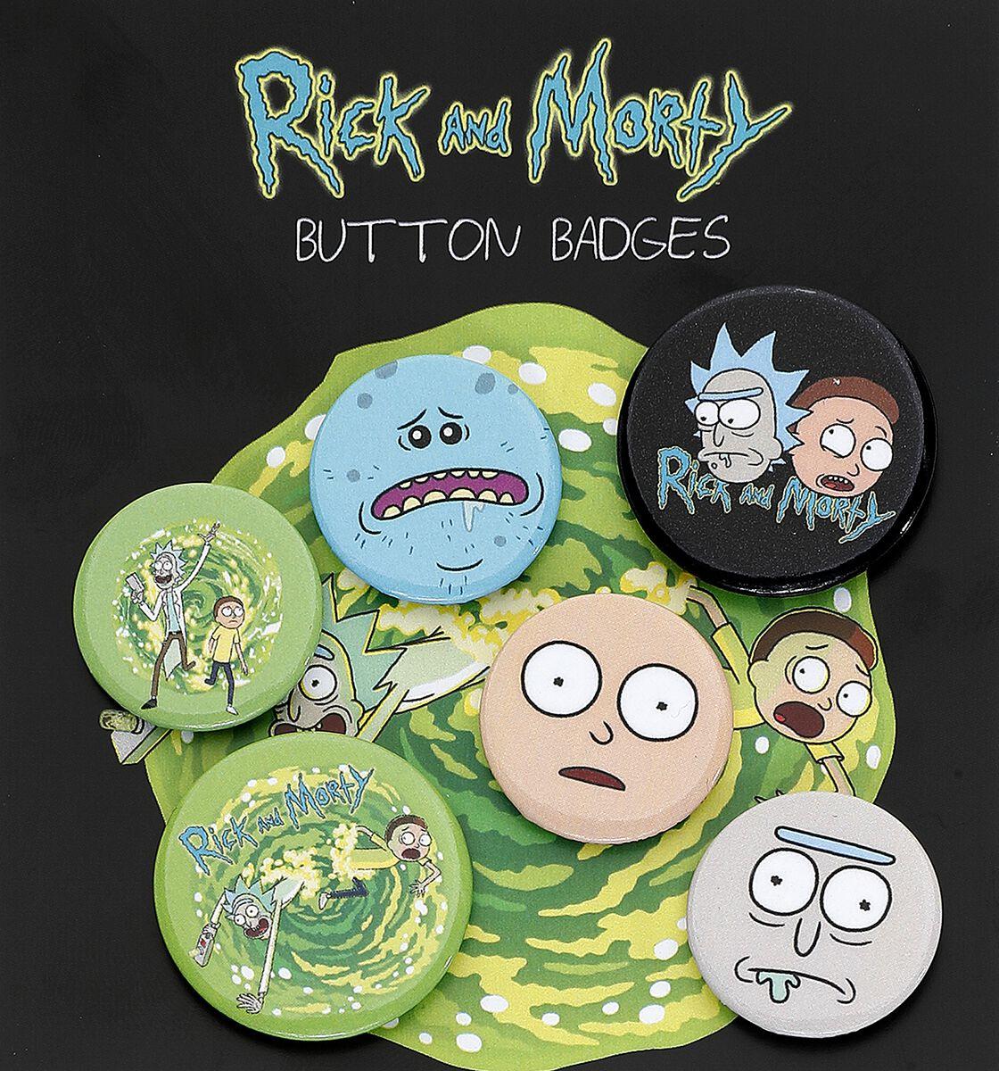 Image of   Rick And Morty Characters Badgepakke multifarvet