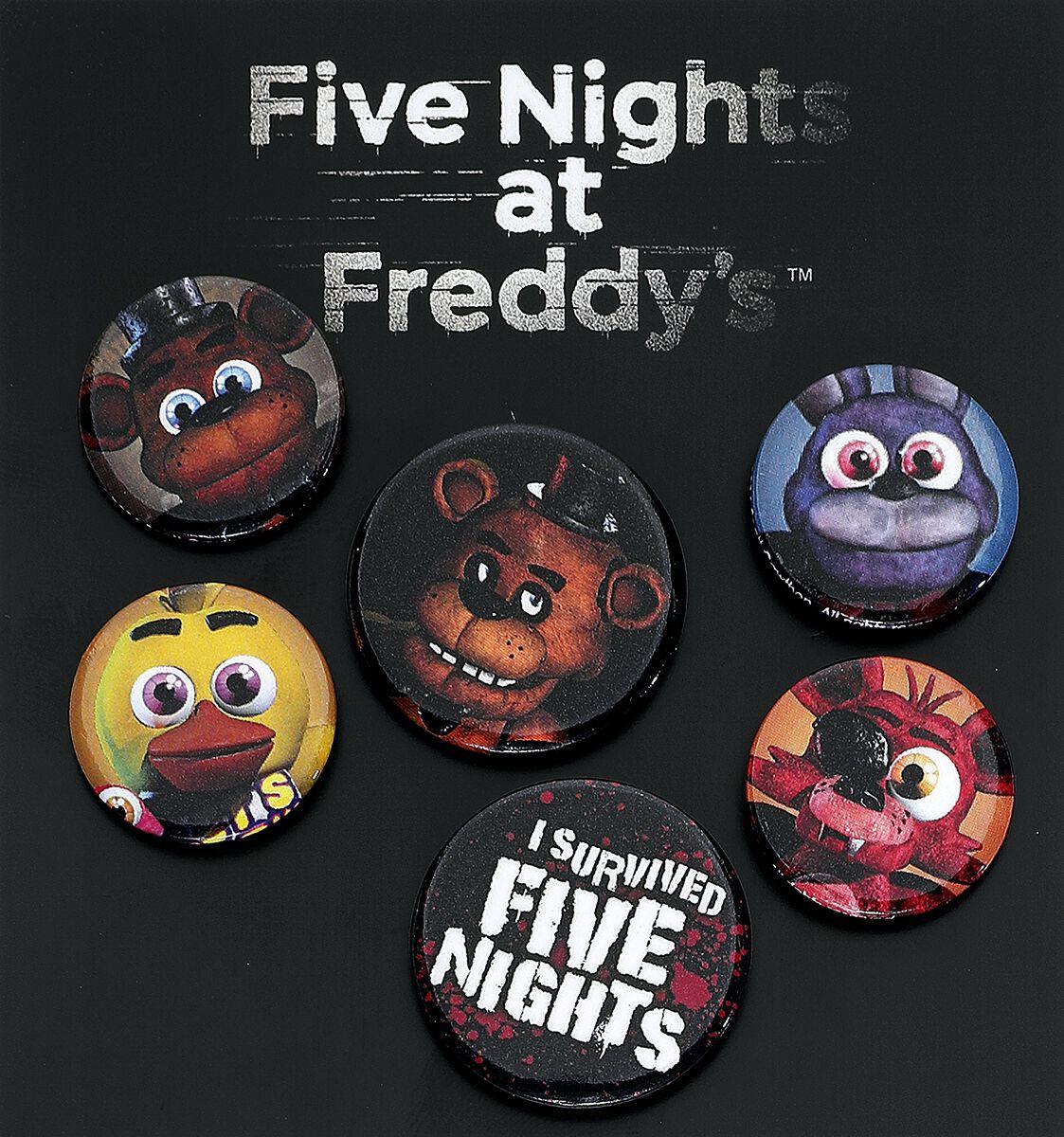 Merch dla Fanów - Przypinki - Zestaw przypinek Five Nights At Freddy's Mix Zestaw przypinek wielokolorowy - 357717