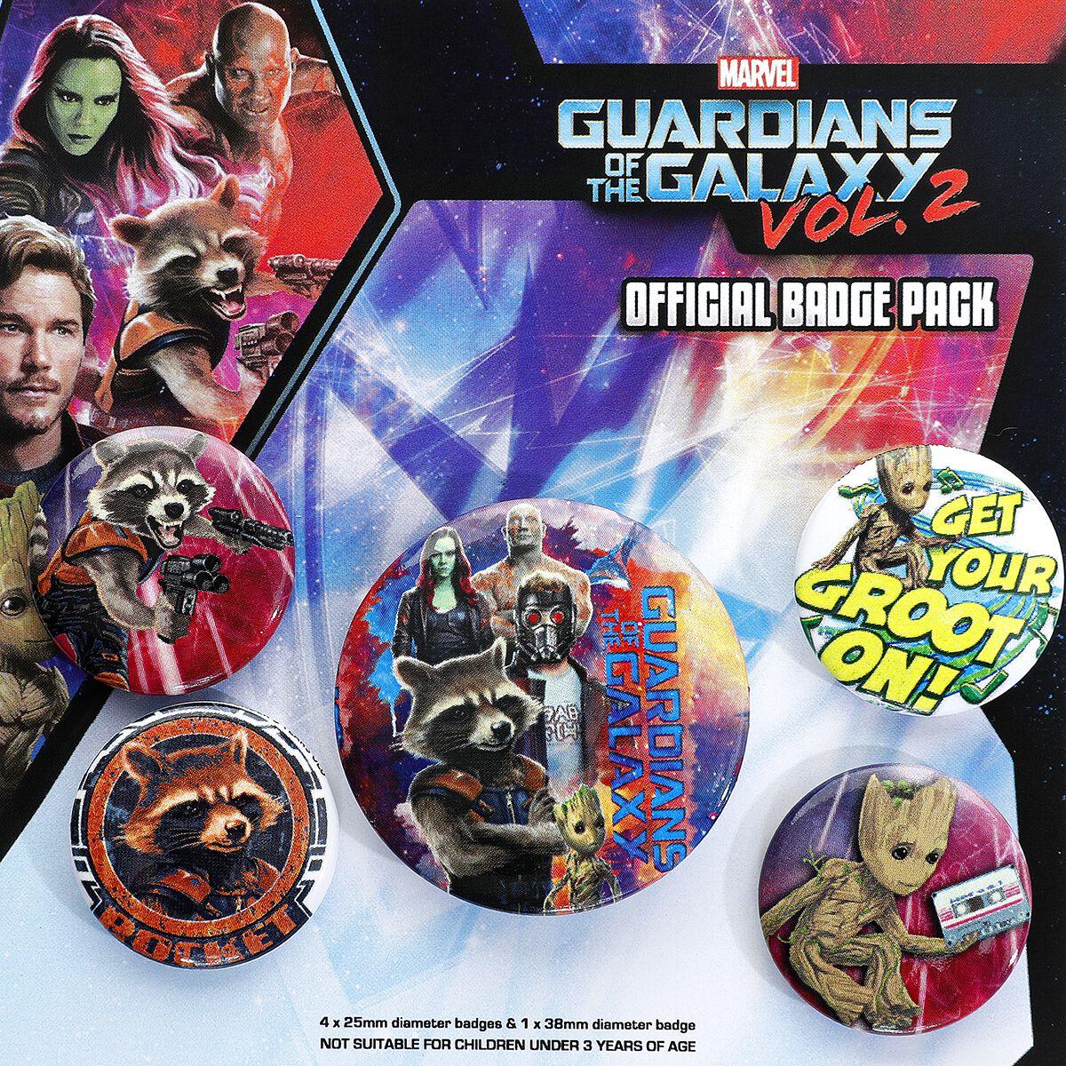 Image of   Guardians Of The Galaxy Vol.2 - Rocket & Groot Badgepakke multifarvet