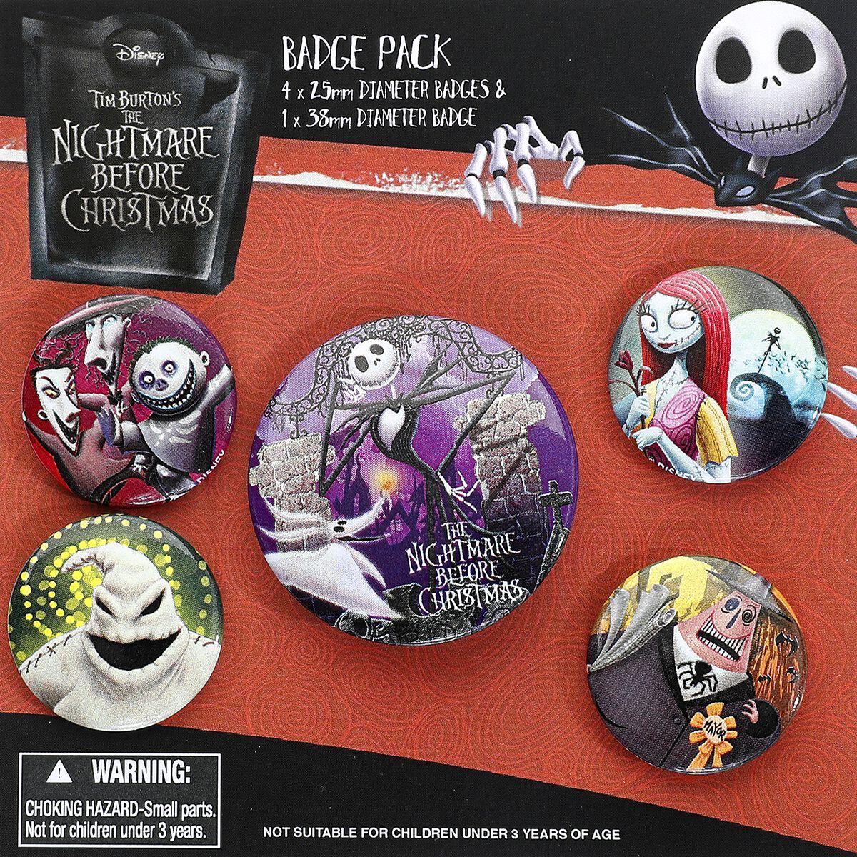 Image of   The Nightmare Before Christmas Characters Badgepakke multifarvet