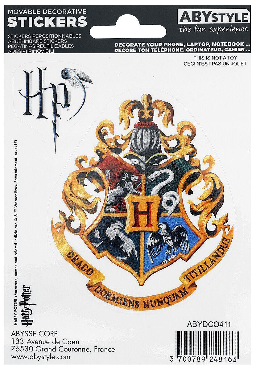 Image of Harry Potter Hogwarts Houses Aufkleber-Set multicolor