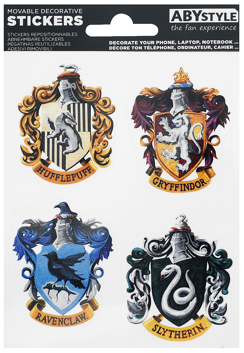 harry potter hogwarts houses aufkleber set mehrfarbig ebay. Black Bedroom Furniture Sets. Home Design Ideas